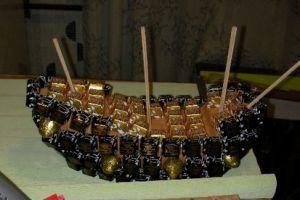 Корабль из конфет мастер класс 13