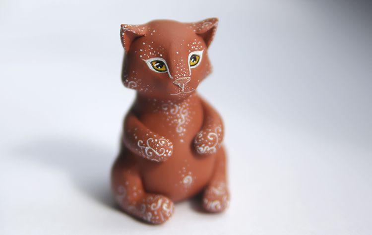 рыжий коти пряник котик кошка коричневый подарок