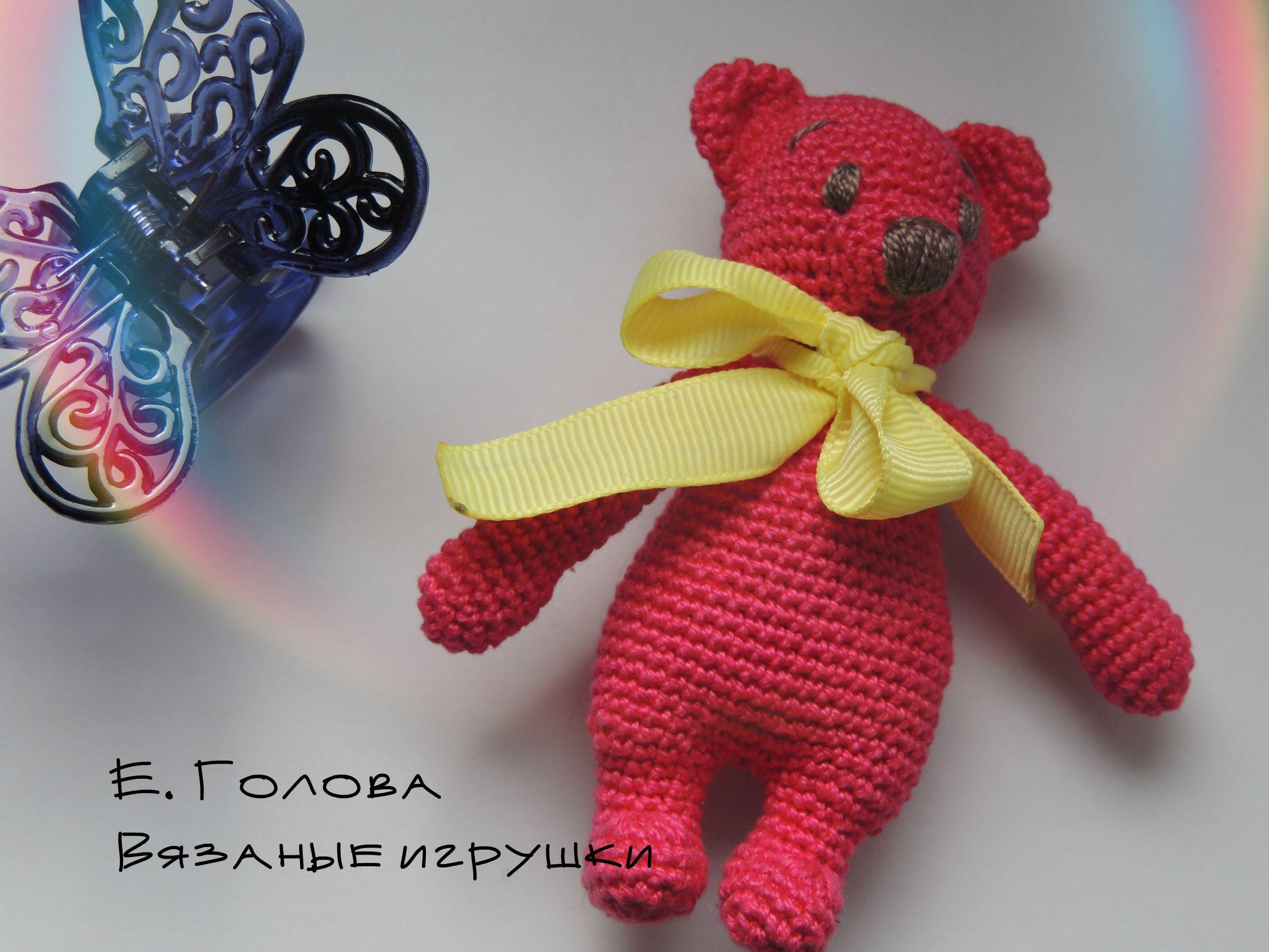 вязаный_мишка мишутка подарок игрушка