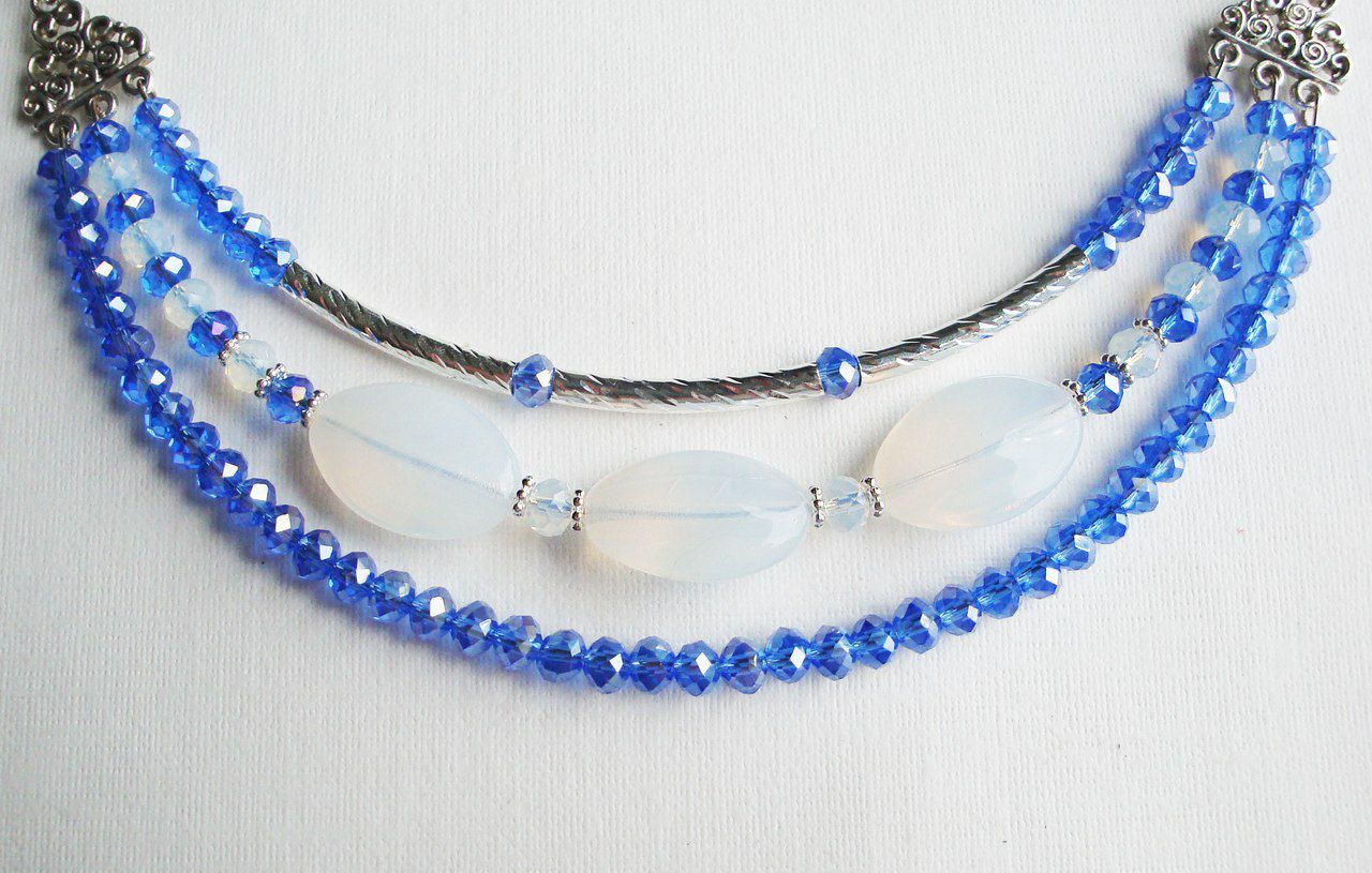колье бусы ожерелье девочке женщине шею украшение девушке кольеизбисера подарок