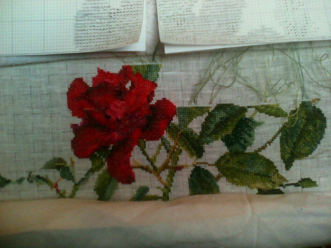 embro розы работы ручной роза handmade вышитые красный embroidery вышивка ручная ярко art