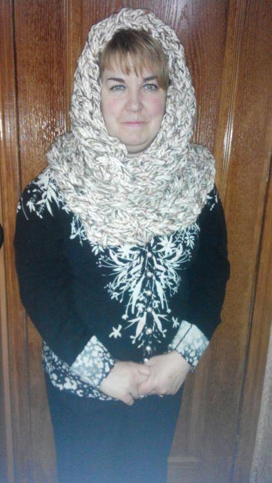 хомут накидка шарф вязание убор головной