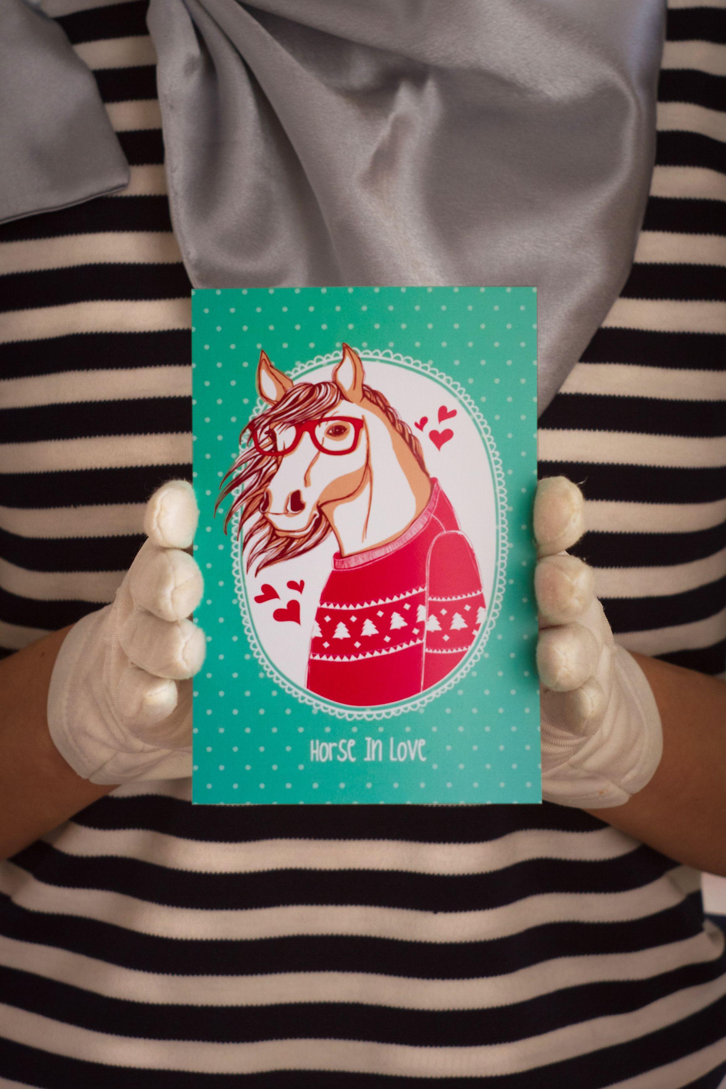 horseinlove подарок любовь знаквнимания сюрприз лошадь открытка романтика