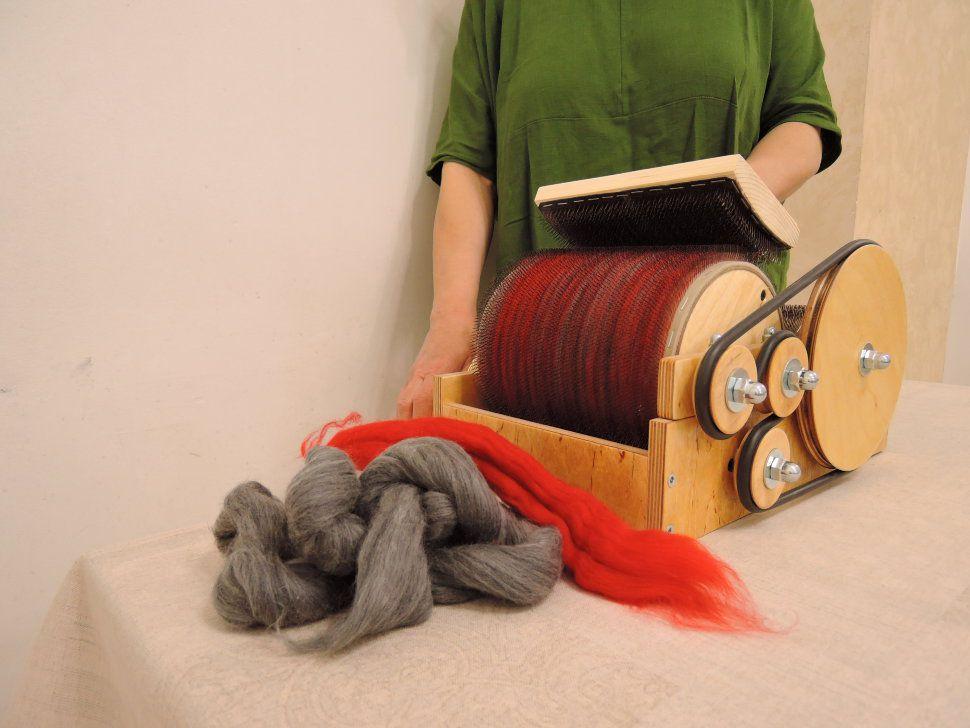 обработка кардер чески для чесание шерсти