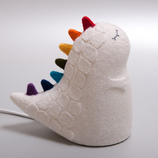 интерьера ночник дракон дизайн белый светильник подарок