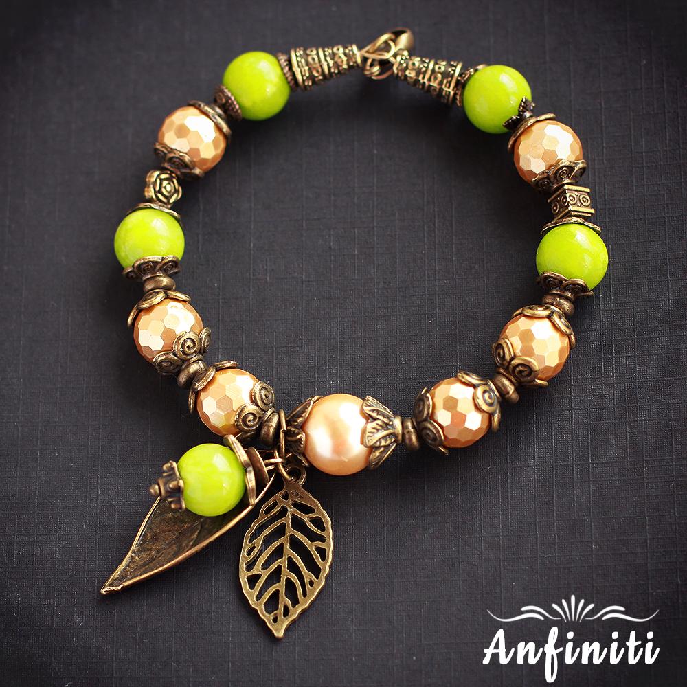 bracelet агат зеленый хэндмейд подвеска майорка ручнаяработабраслеты хендэйд фурнитура браслет коричневый