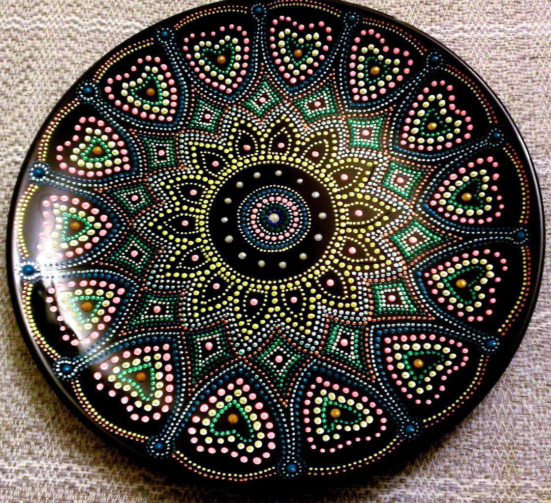 узоры декоративнаятарелка весеннийпраздник тарелка точечнаяроспись handmade декор праздник ручнаяработа подарок