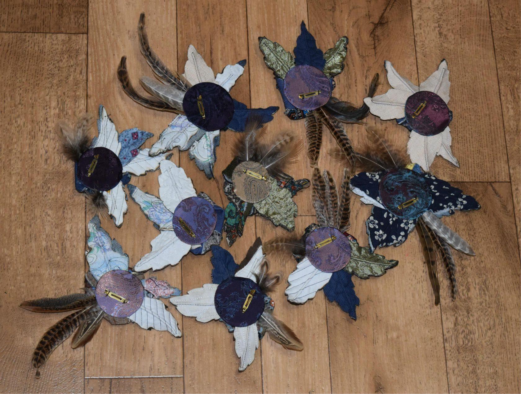 джинс фантазия брошь винтаж аксессуары подарок купитьподарок сувенир стиль своимируками hendmade ручнаяработа бохо цветы мода