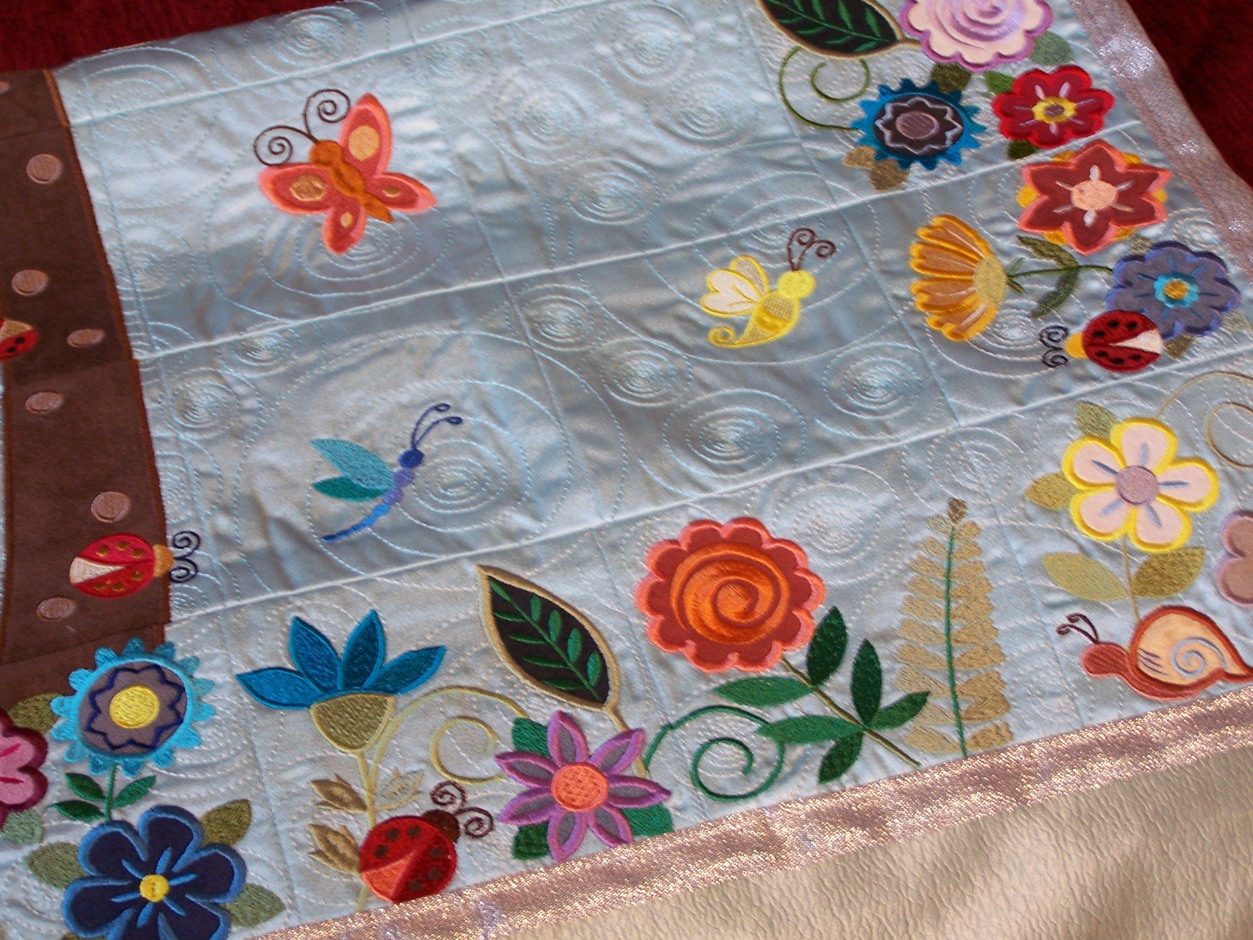 покрывало панно текстиль вышивка машинная подарки
