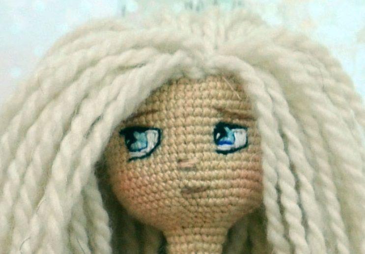 авторская каркас крючком кукла