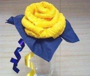 салфеток из руками цветы своими