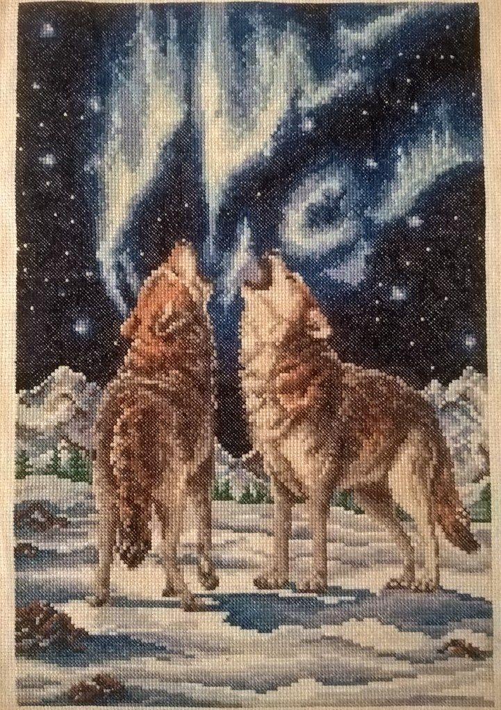 искусство нити волки вышивка