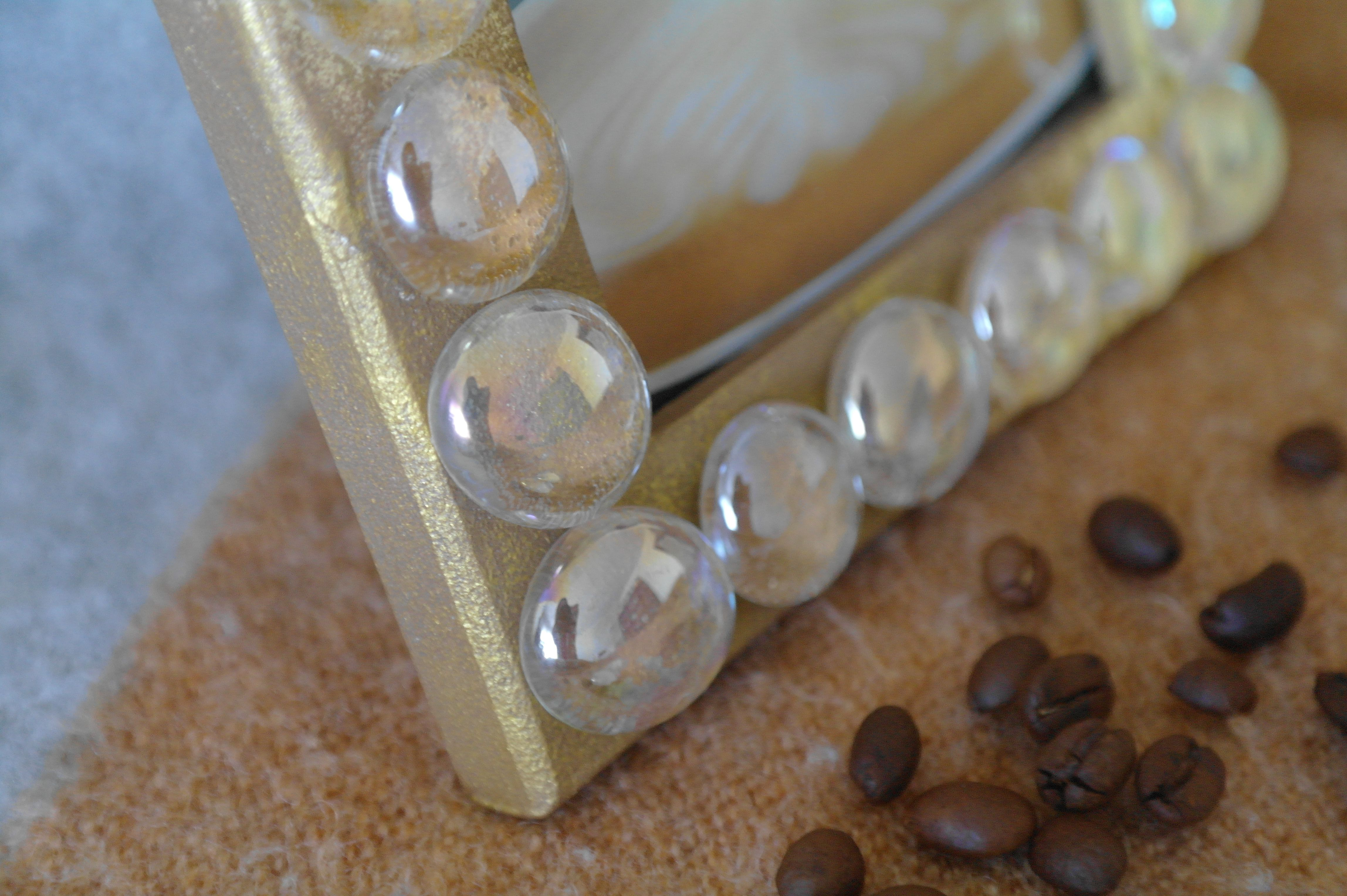 фоторамка кофе стекло марблс