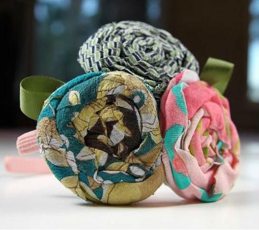 из декор текстиль мастеркласс аксессуары украшения ткани цветы