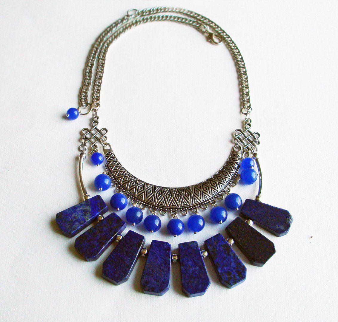 натуральные лазурит камни ожерелье нефрит колье