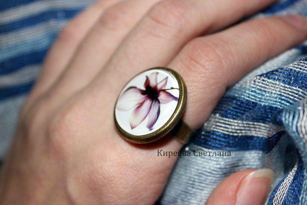 нежность кольцо женственность украшение цветок подарок ручнаяработа