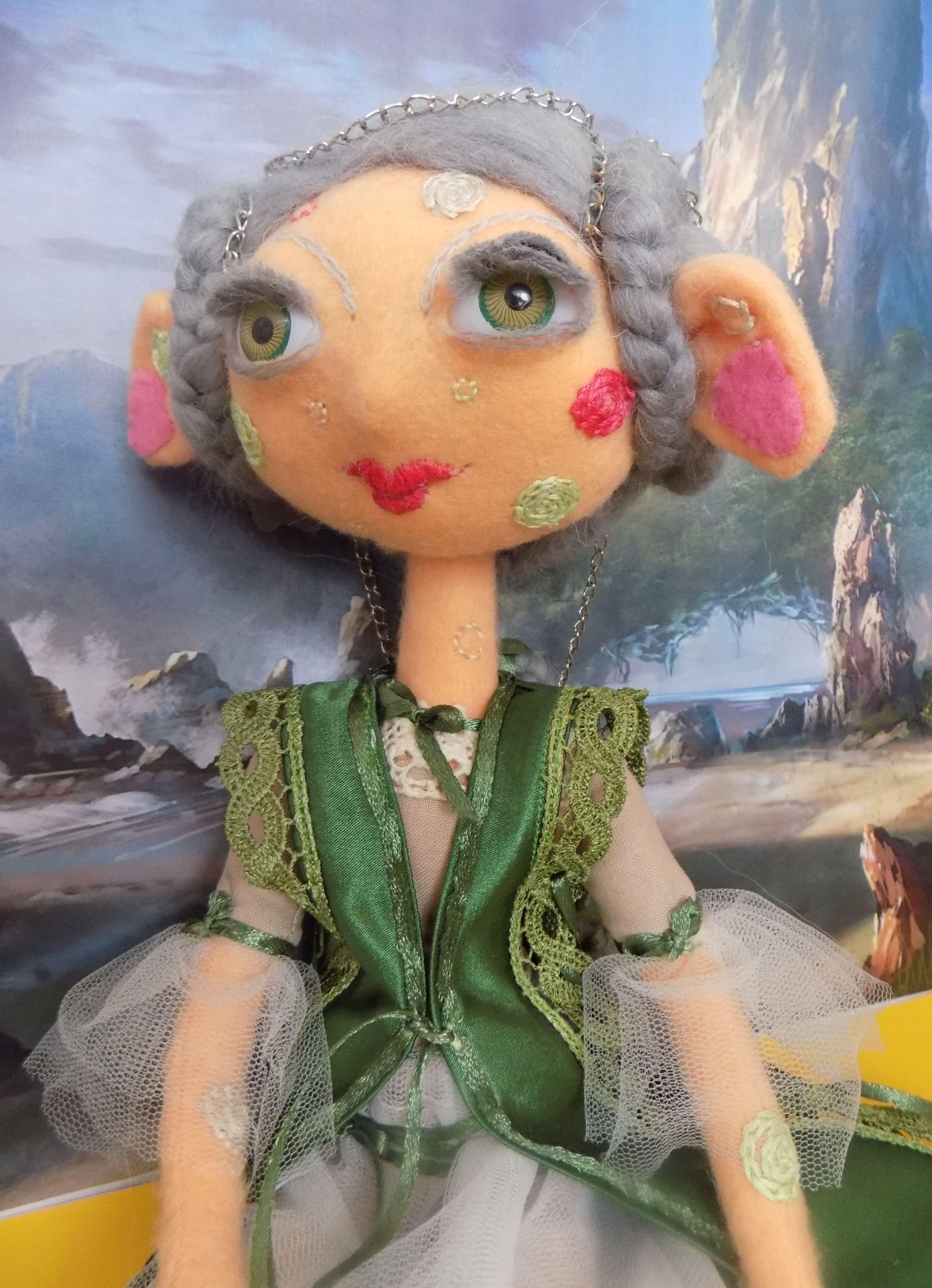 авторская интерьерная фэнтези ручная сказка будуарная необычная кукла фетр