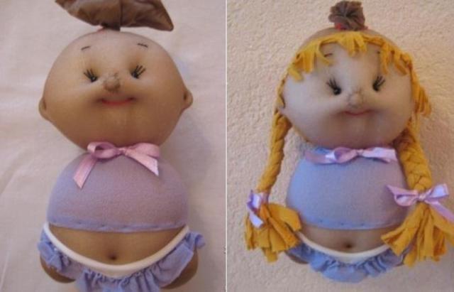 Куклы из колготок мастер класс для начинающих 3