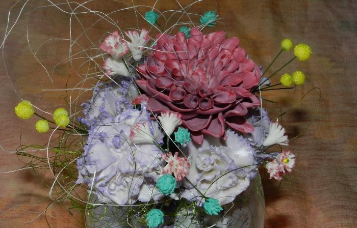 холодный фарфор осенняя композициямастеркласс цветы