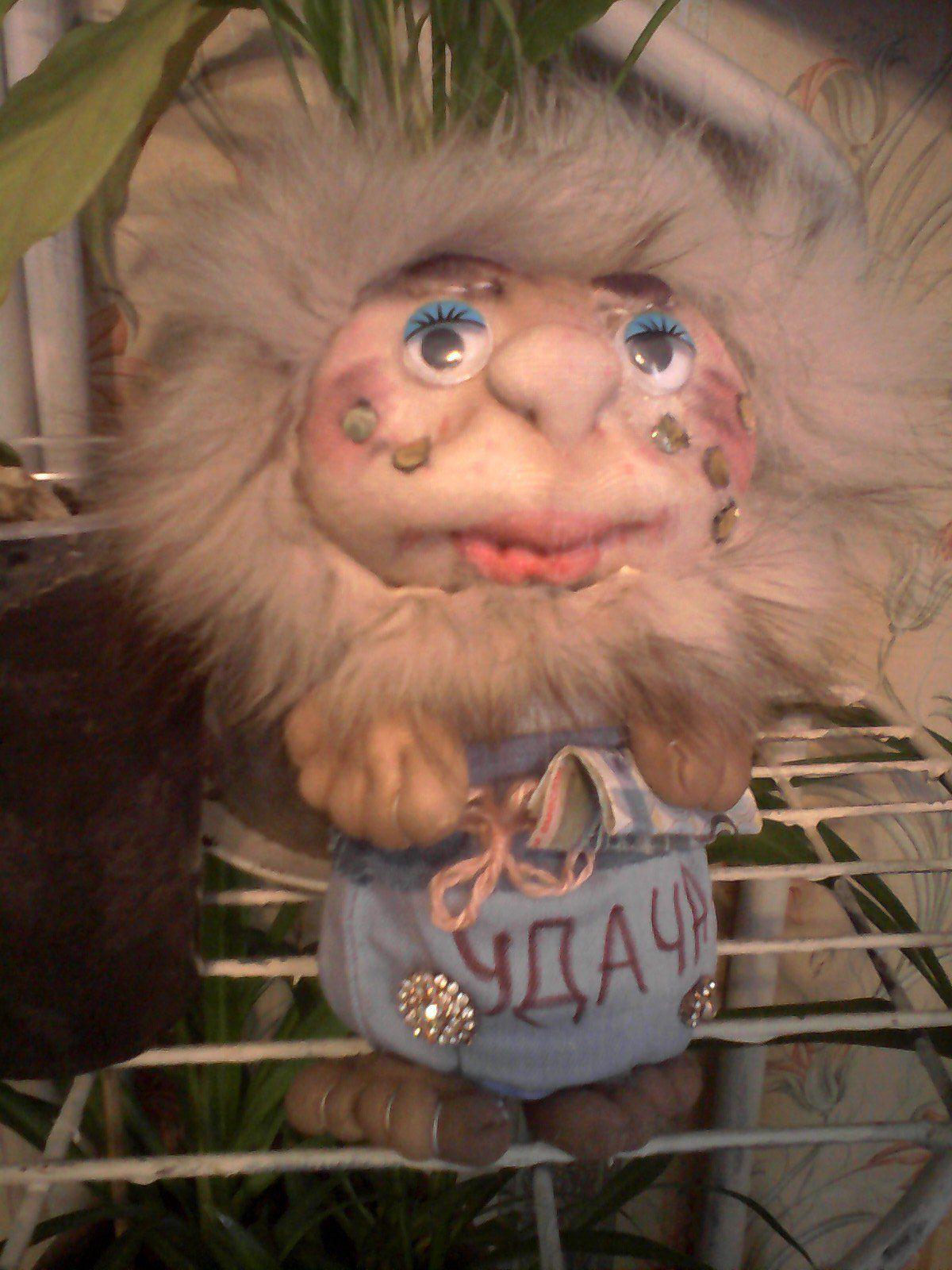 игрушкаизкапрона ручнаяработа домовой кукла