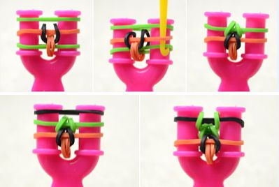 Как сделать браслет из резинок 9