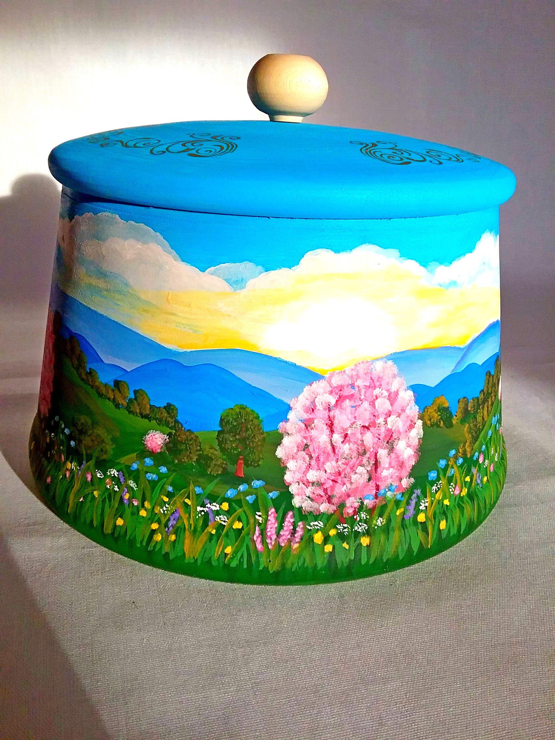 необычное пейзаж праздники подарокручнойработы декоративнаяроспись изделияиздерева посуда подарки деревянный сувениры подарок