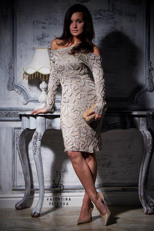 ручнаяработа шелк эксклюзив декор платье коктейльноеплатье шёлковоеплатьесдекором роскошь