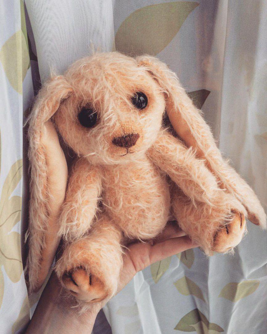 игрушка заяц текстильнаяигрушка тедди зайка подарок авторскаяигрушка