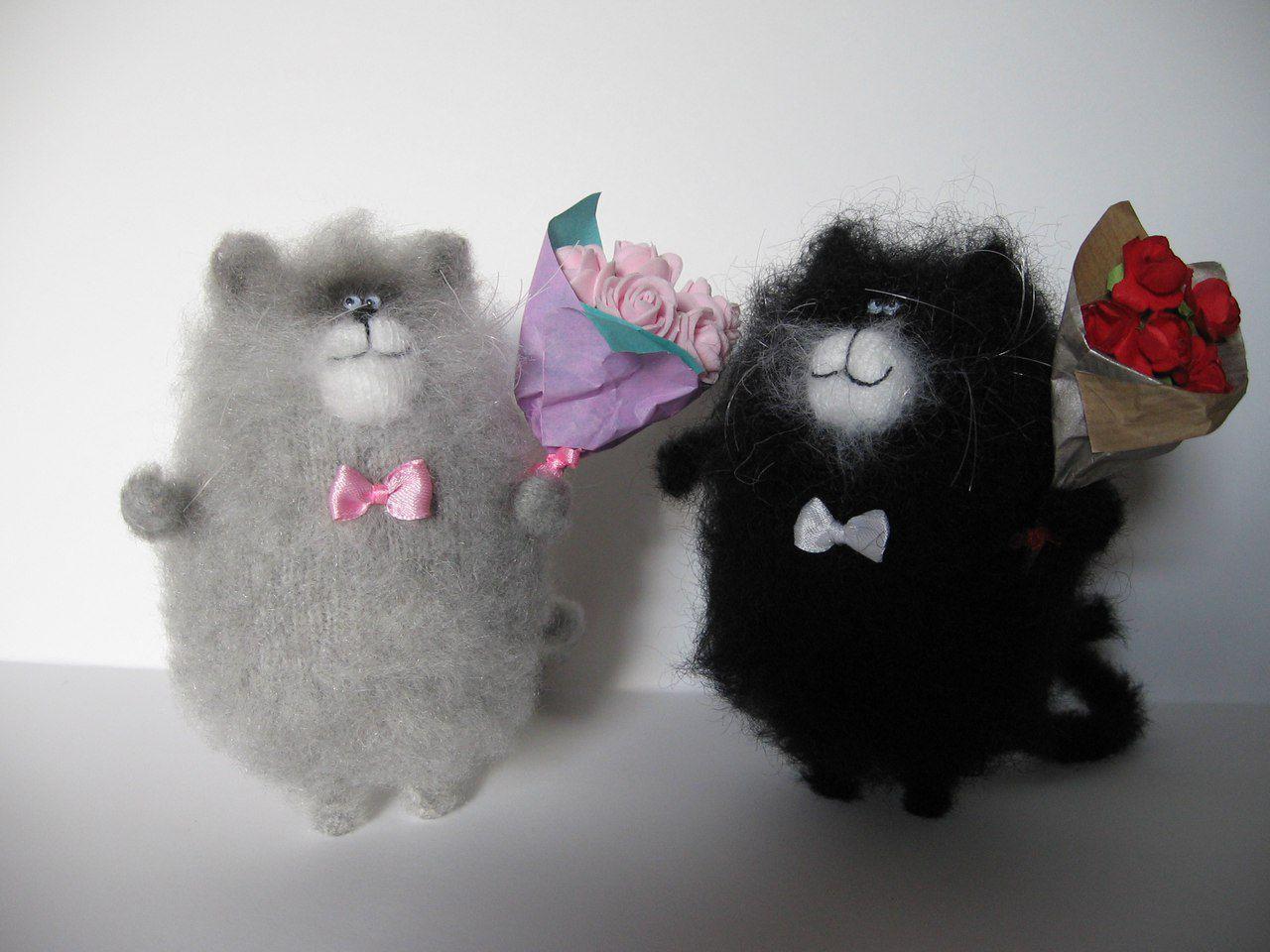 8 приятный сюрприз игрушка кот новый ручная декор праздник вязание сувенир интерьер работа год марта подарок