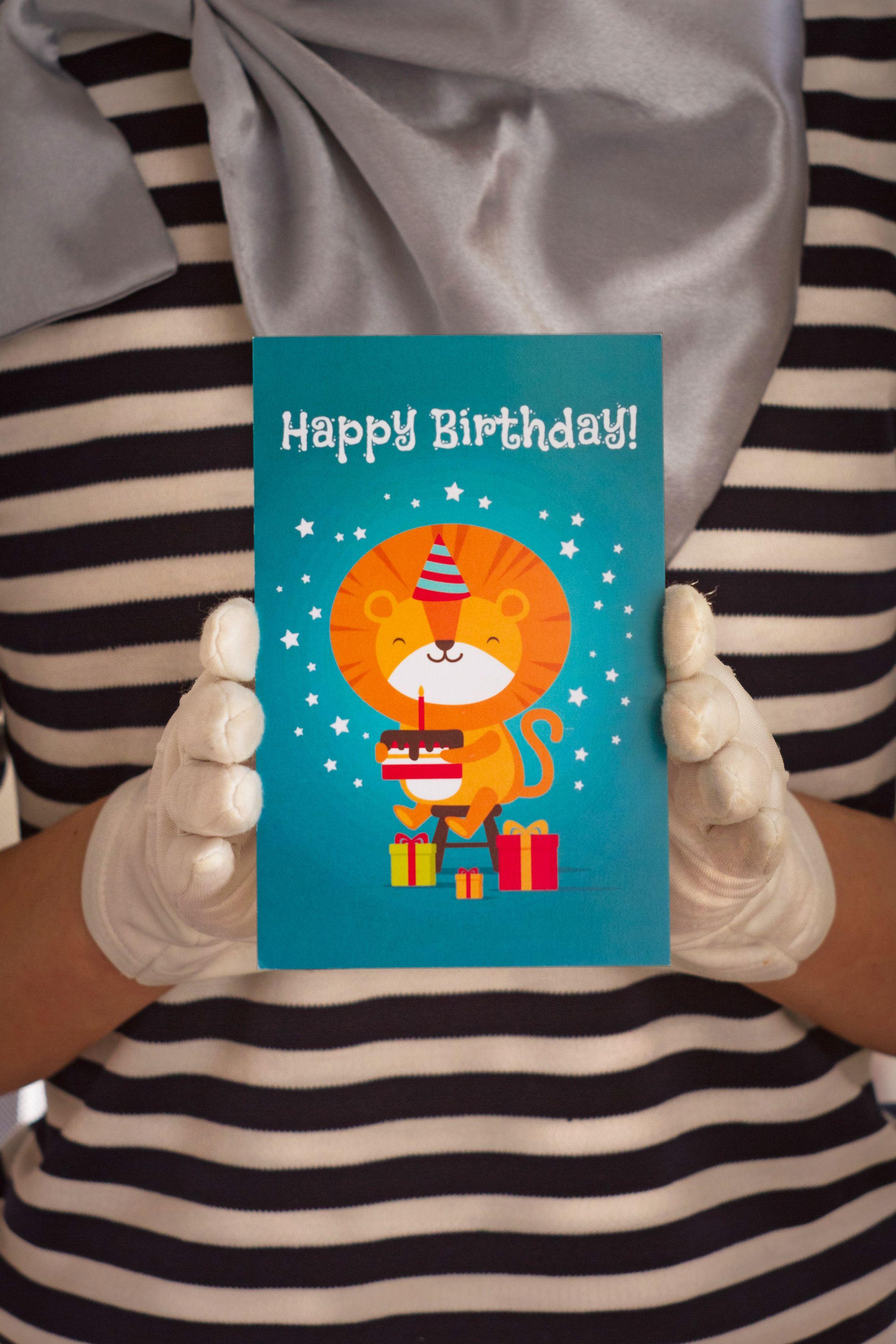 знаквнимания сюрприз сднемрождения lion happybirthday открытка подарок лев