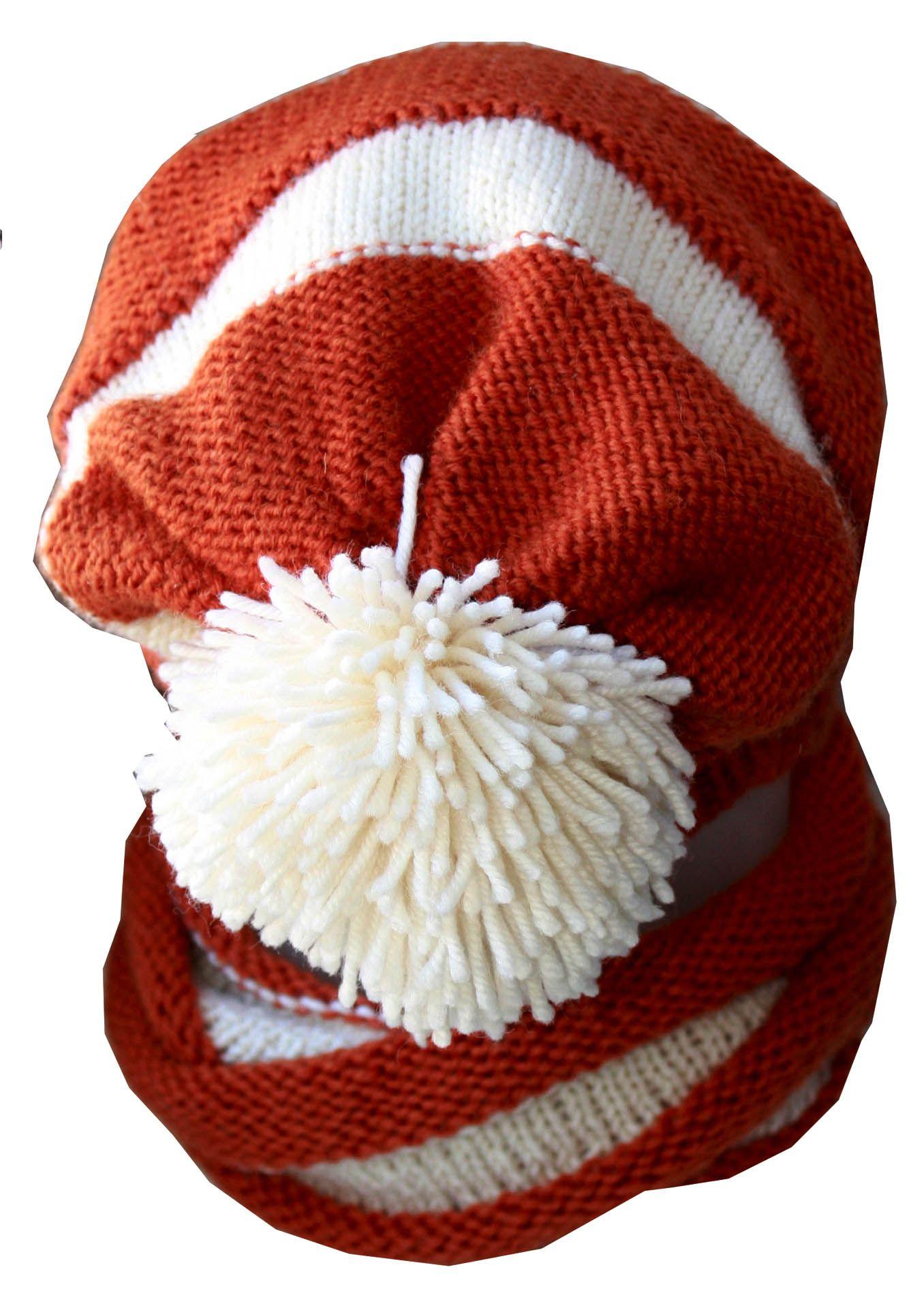 зимняя мальчика шапка для шарф-снуд снут теплая помпоном комплект с снуд