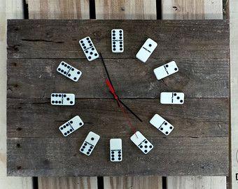 переработка домино часы руками своими подарок