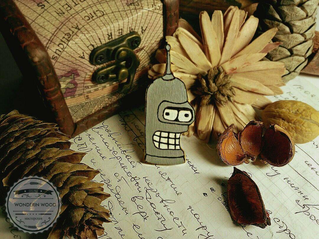 дерево рик морти дерева украшения брелоки аксессуары для брелки одежды значки