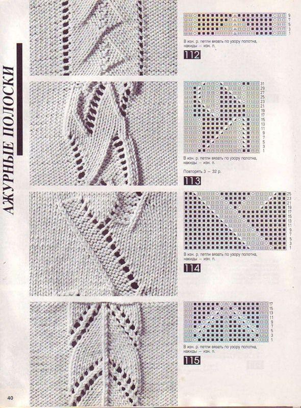 Объемные узоры спицами 7