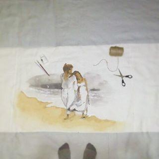 работанабор ручная росписьподарок покрывалонаволочкиручная