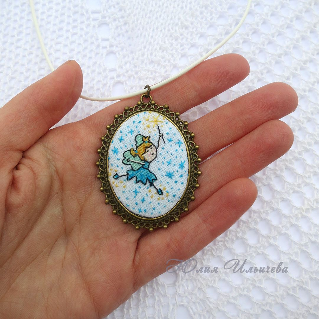 кулон вышивка минивышивка подарки украшение подарок