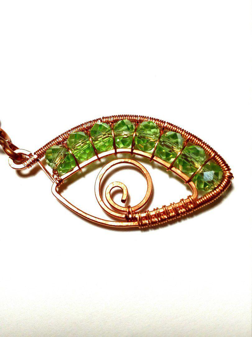 кулон кулоны зелёный подарок бижутерия медный девушке женщине