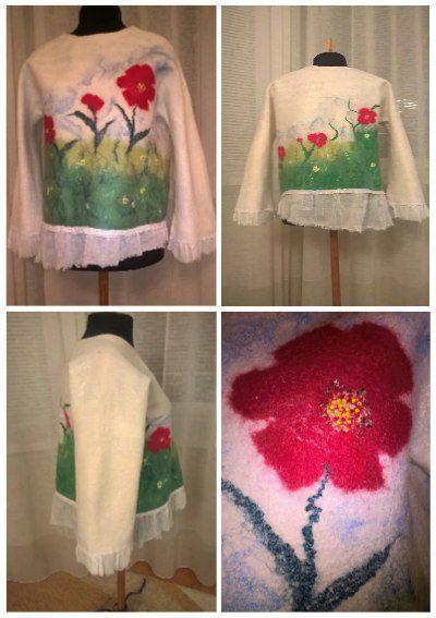 свитшот handmade шерсть одеждаваляная джемпер