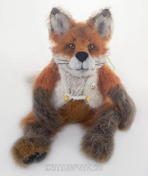 вязанаяигрушка лис лисичка сувенир лиса ручнаяработа подарок