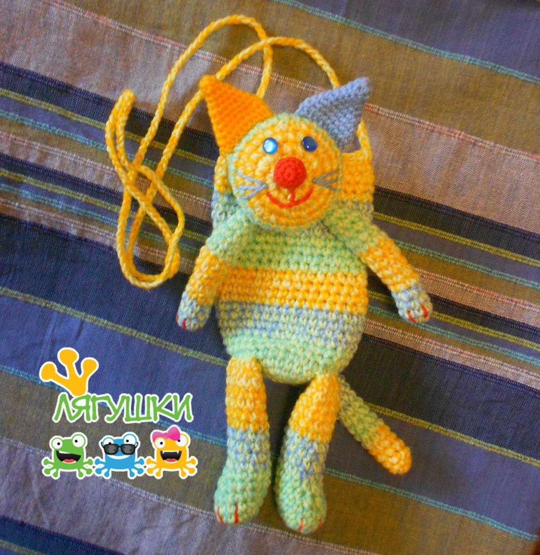 мяу forcatlovers мур gift meow вязанаясумка craft полосатыйдруг softtoybag cat мягкаяигрушка handmade трилягушки чехолдлясмартфона кот