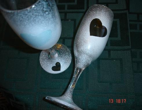 Свадебные бокалы своими руками 3
