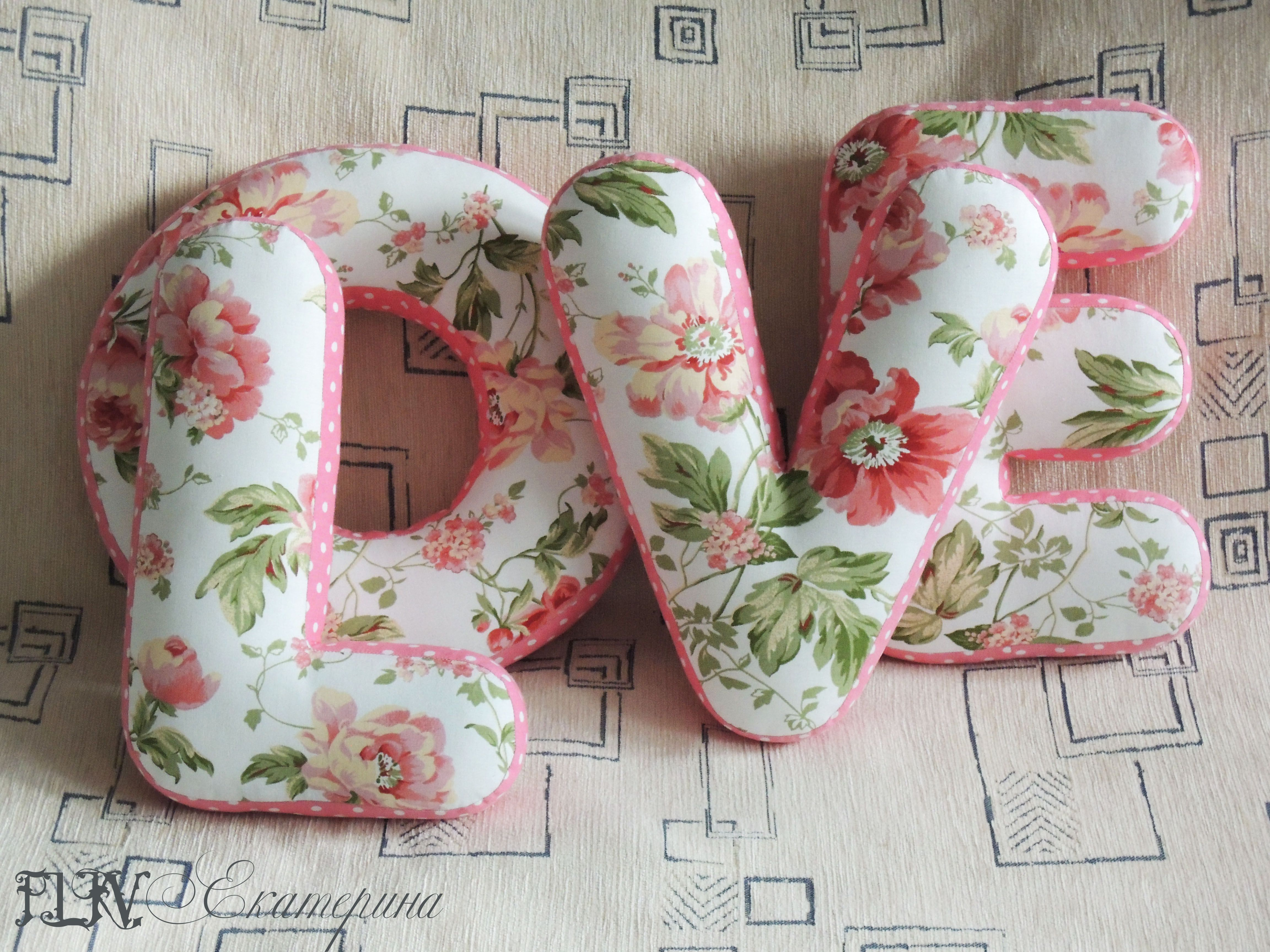 детская буква подушкабуква