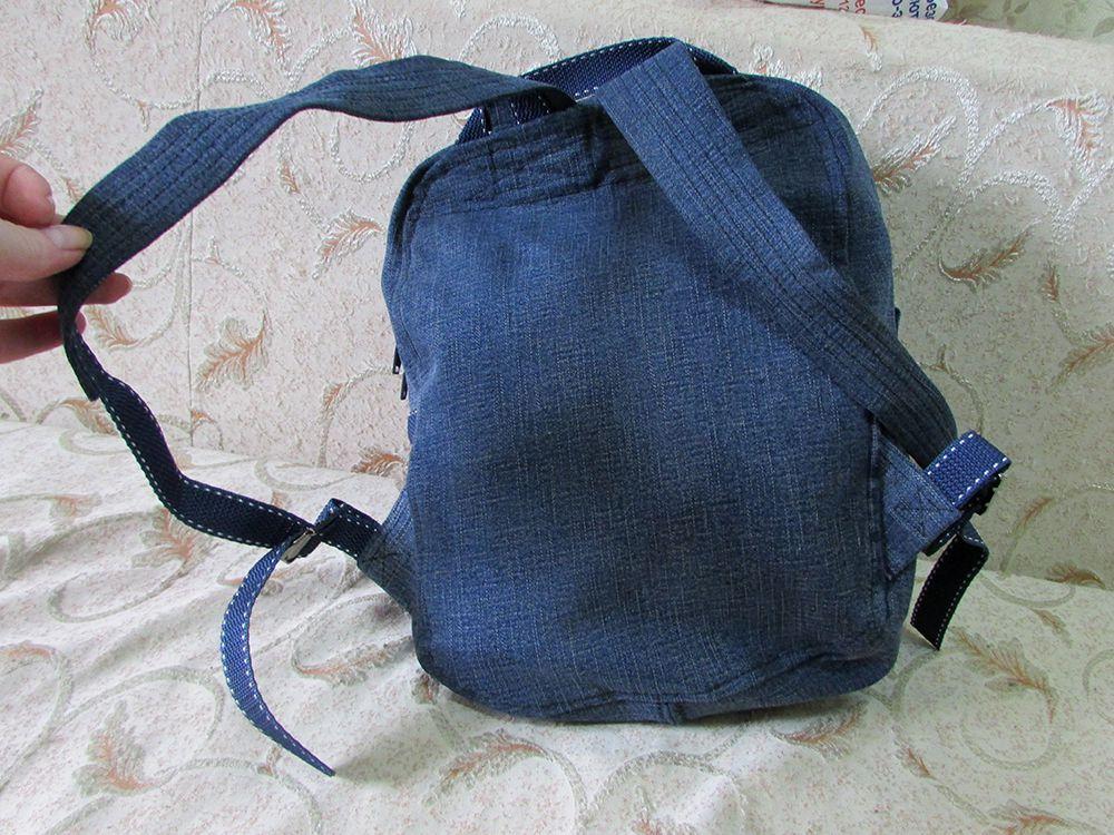 работы ручной кошка сумка рюкзак аппликация джинсовая кот джинсовый ткань