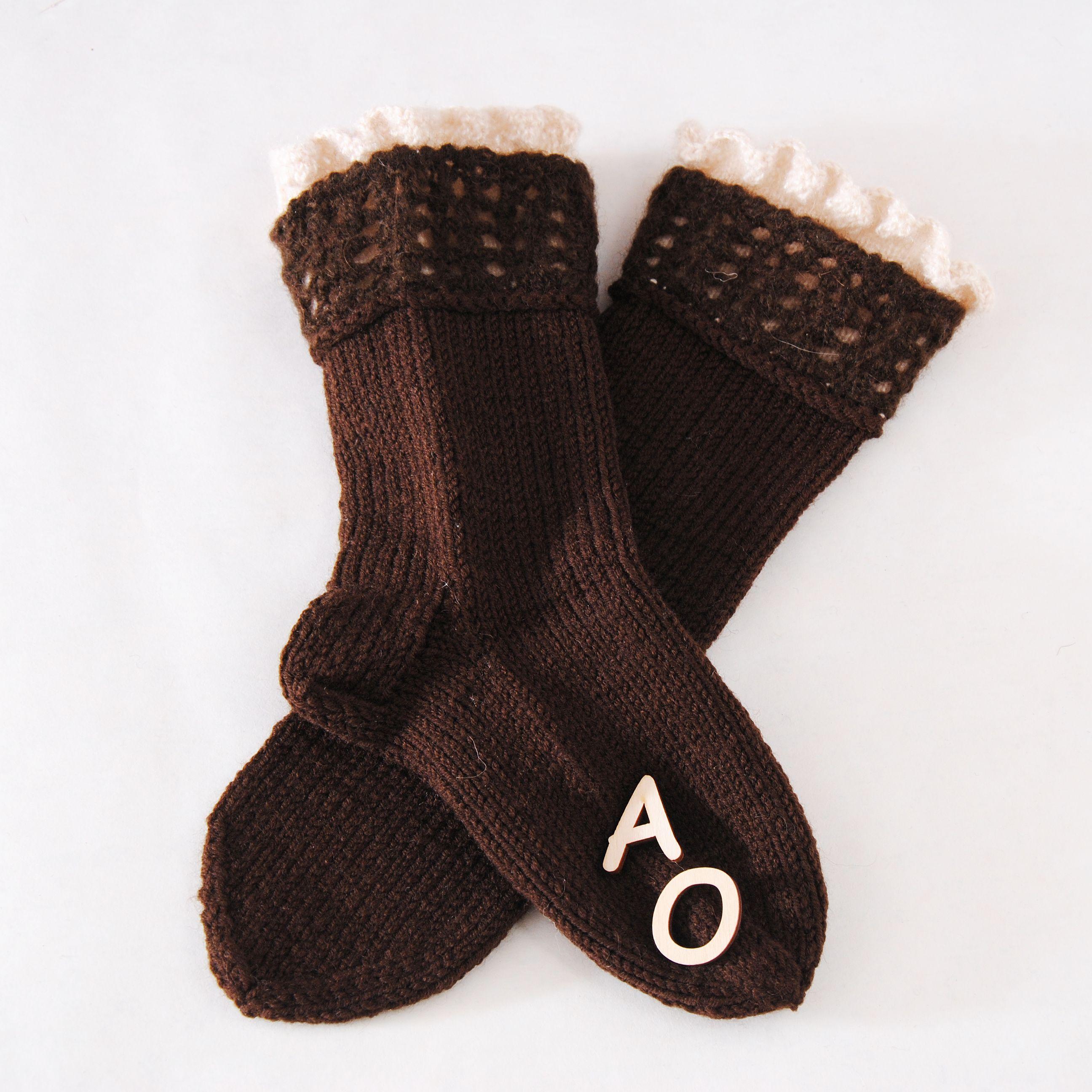 вязаные модные носочки купить шерстяные женские носки обувь домашняя подарок