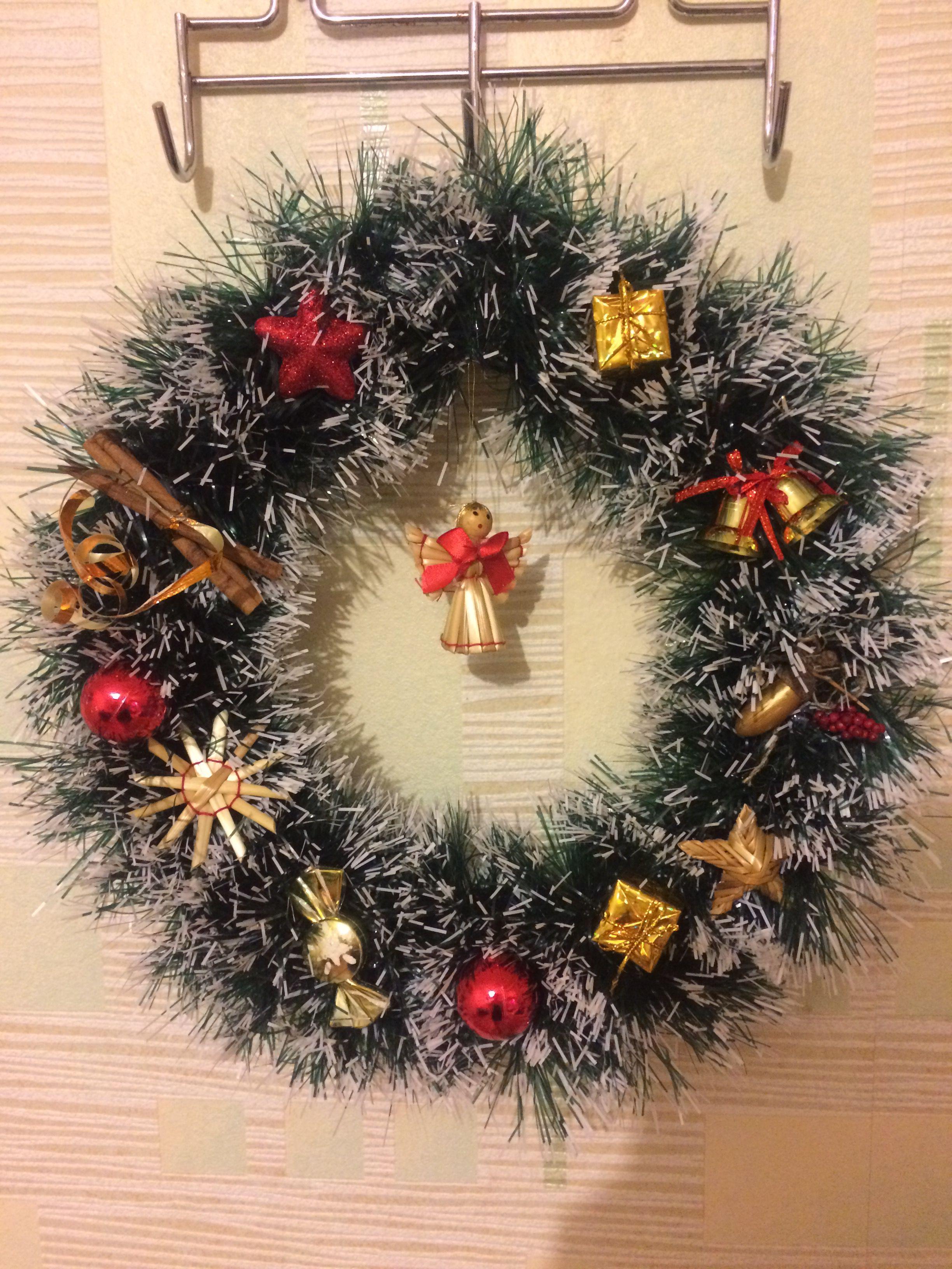 украшениедома праздничныйинтерьер новогоднийвенок венок новыйгод