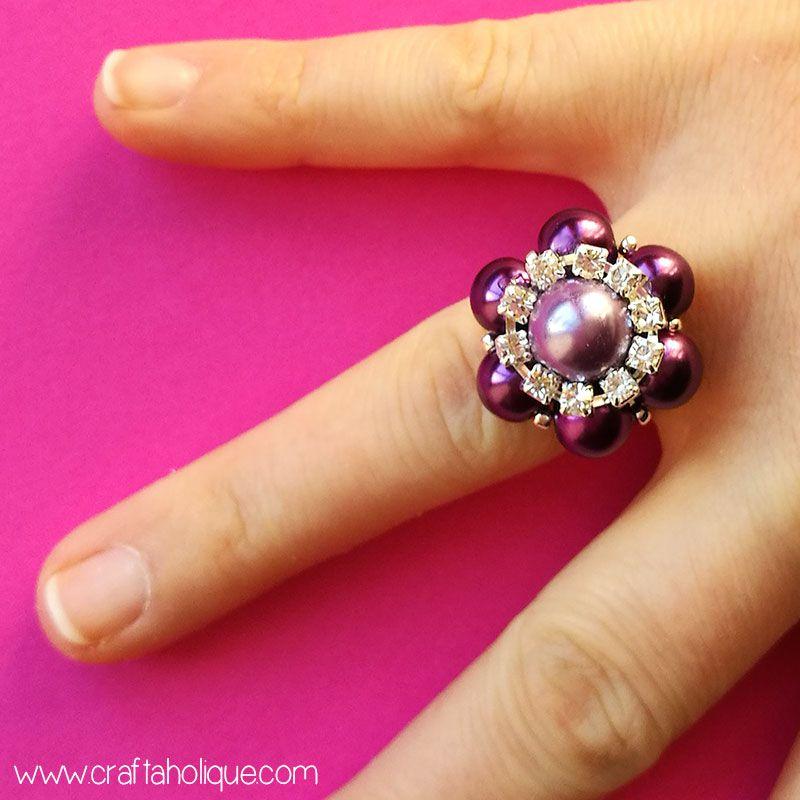 руками из бисера страз кольцо бусин подарки своими