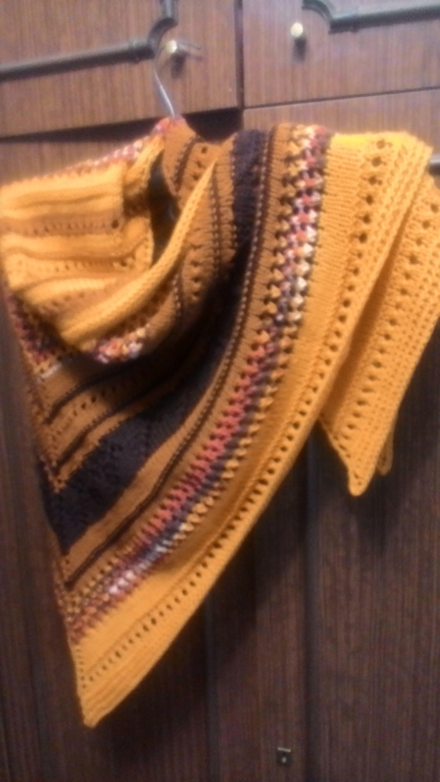 своими вязание вещь скандинавский спицами косынка платок настроение бактус руками шальное тёплая