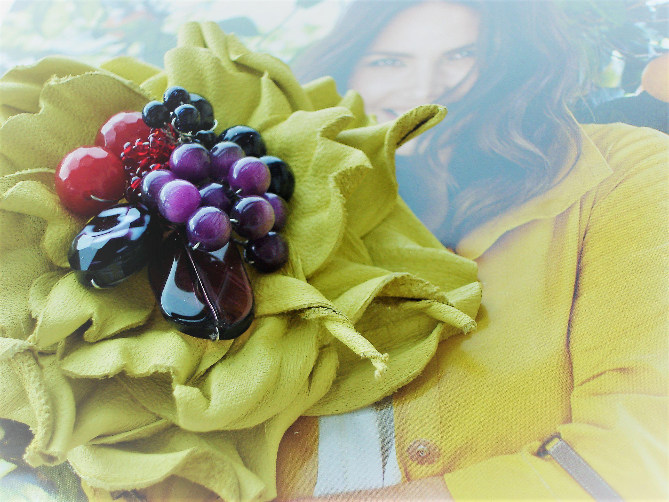 handmade брошь украшение цветокизкожи своимируками творчество хочутакую простокрасотка ручнаяработа акссесуары