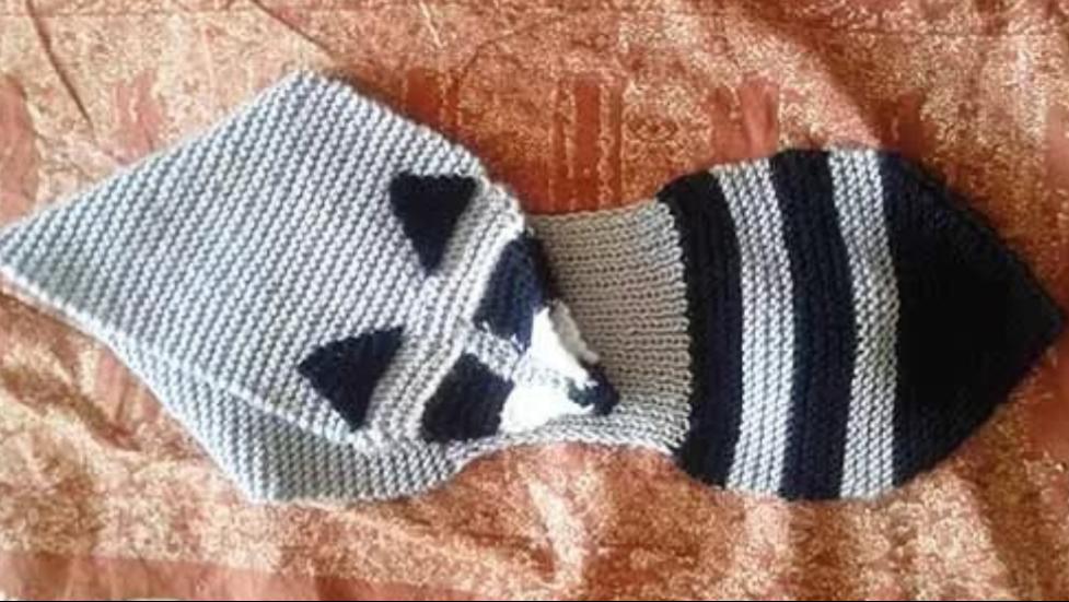 енот шарф детям заказ вязание
