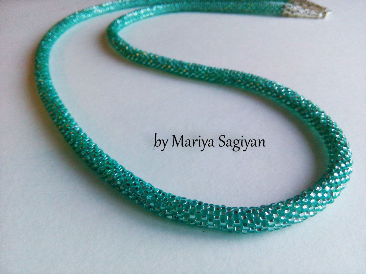 зеленый девушки подарок волны мозаичный украшения для цвет морской жгут бисера женщины вязаный